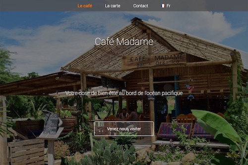 Café Madame - Logo design and graphic charter, website