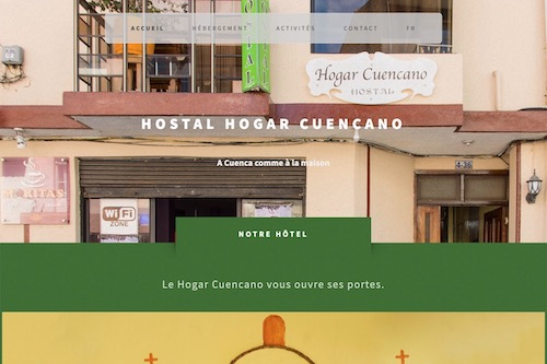 Hotel Hogar Cuencano - Design and complete development of the website