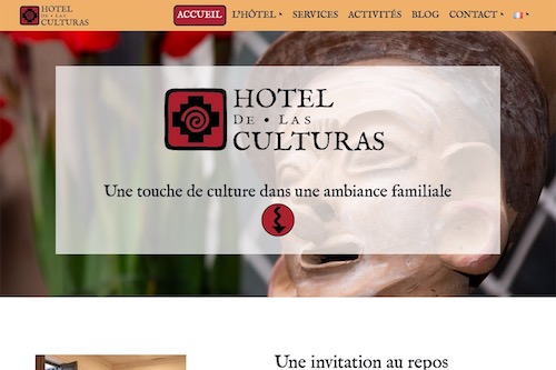 Hotel de las culturas - IN PROGRESS - Design and complete development of the website, translation and social marketing