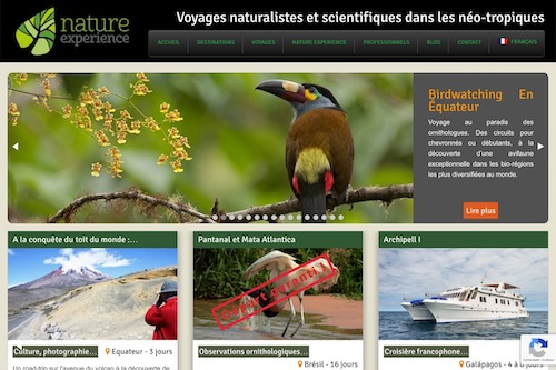 Nature Experience Group - Website, content management and social marketing