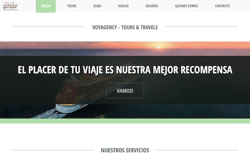 Voyagency - IN PROGRESS - Design and complete development of the website, translation and social marketing